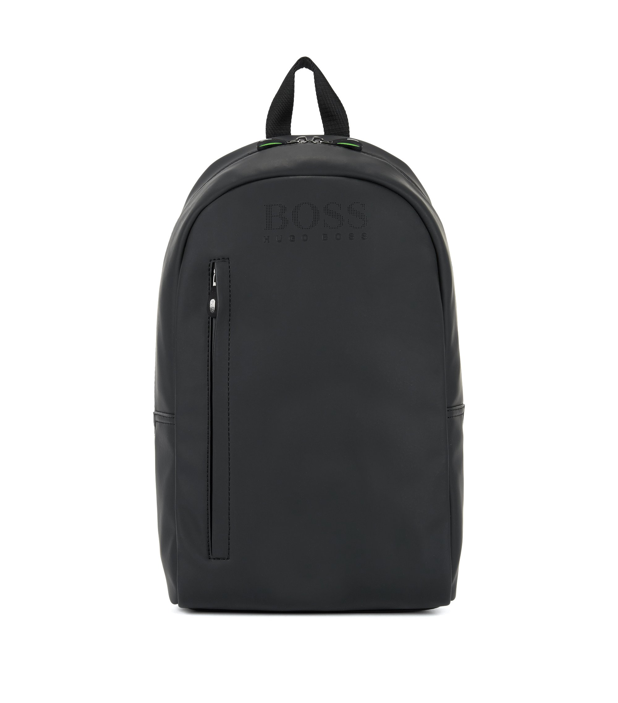 Backpack in rubberised technical fabric, Black
