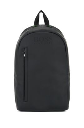 Backpack in rubberised technical fabric, Negro