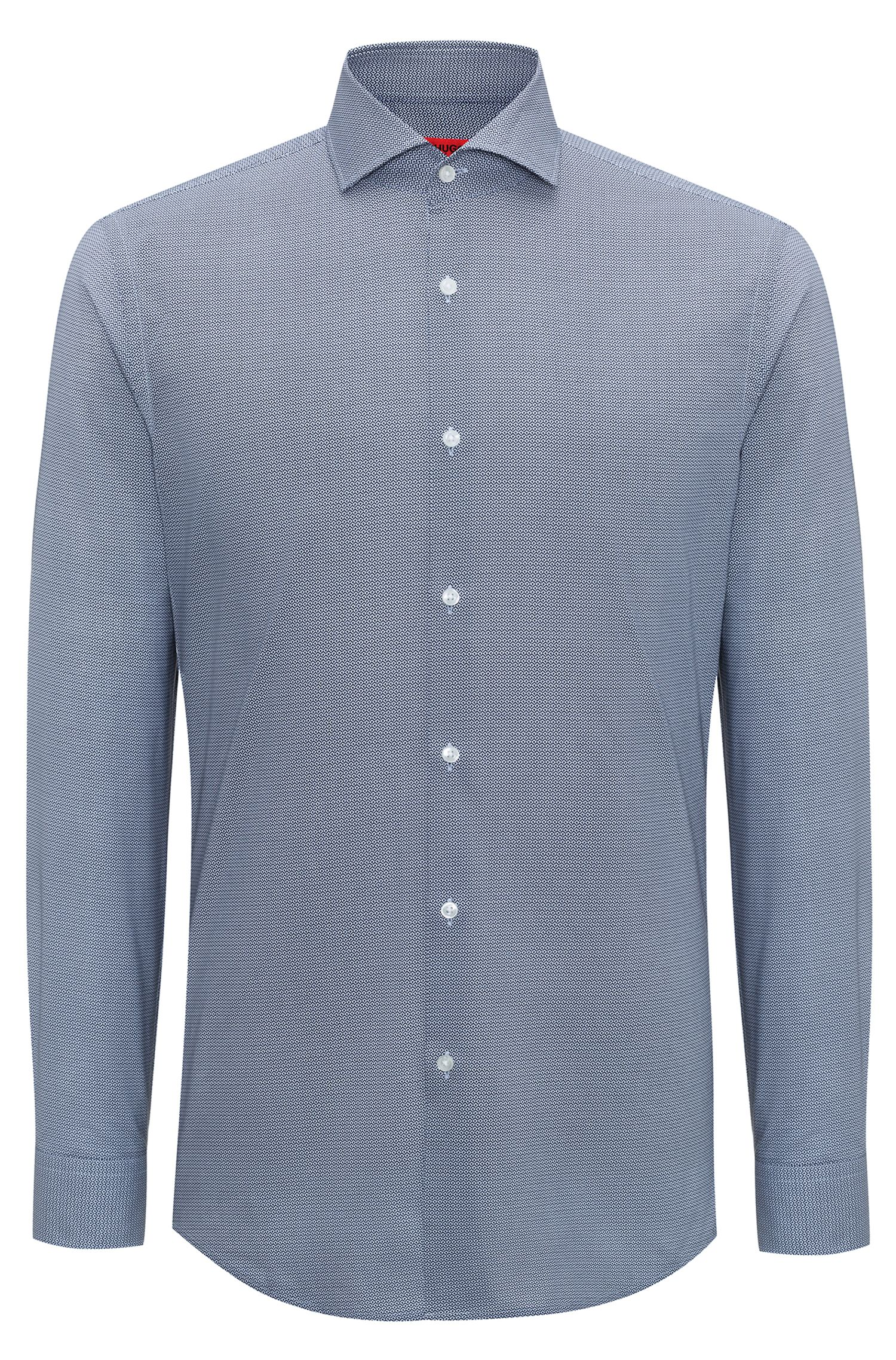 Bedrucktes Slim-Fit Hemd aus Baumwolle