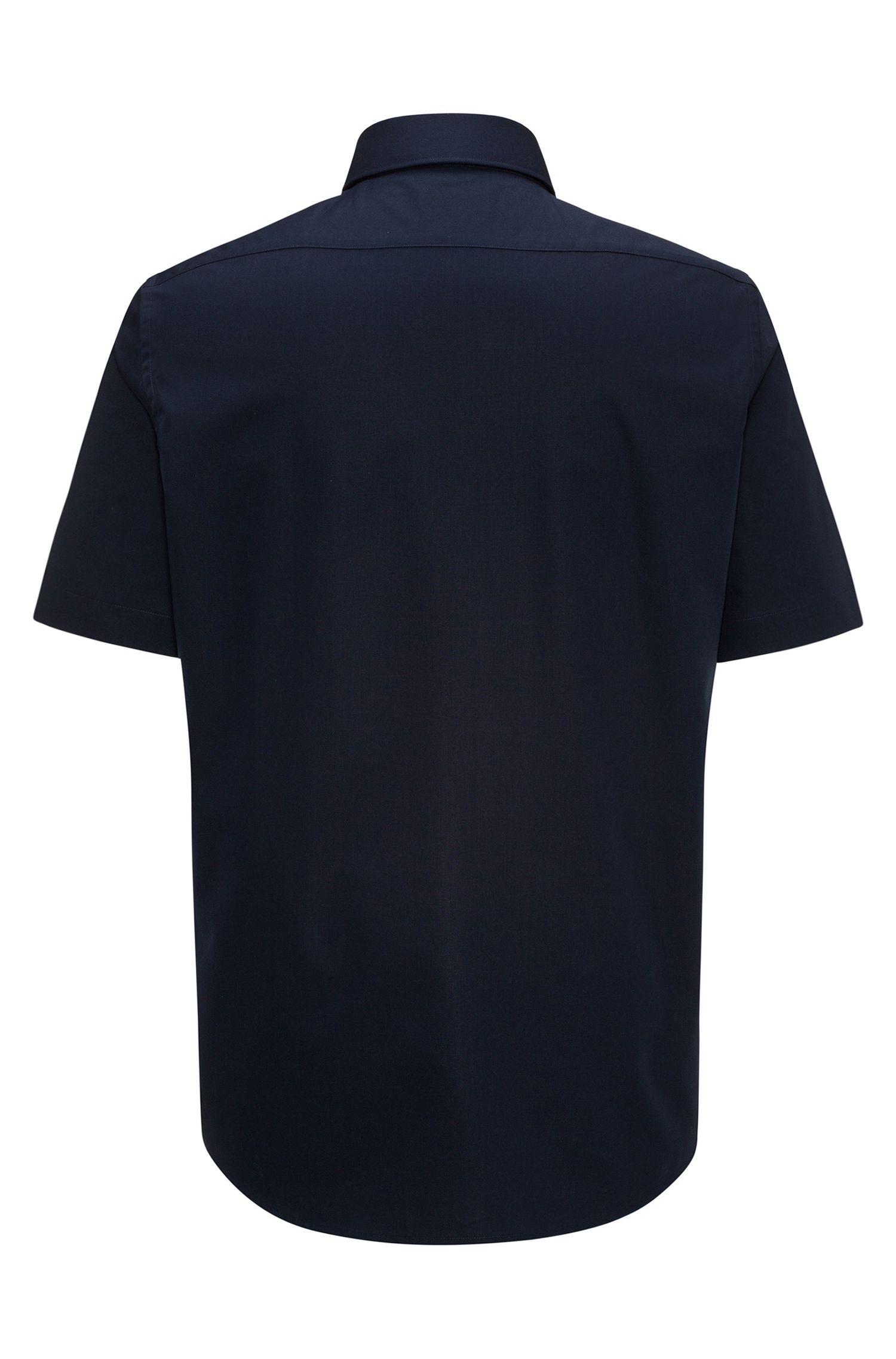 Regular-Fit Kurzarm-Hemd aus Baumwoll-Popeline