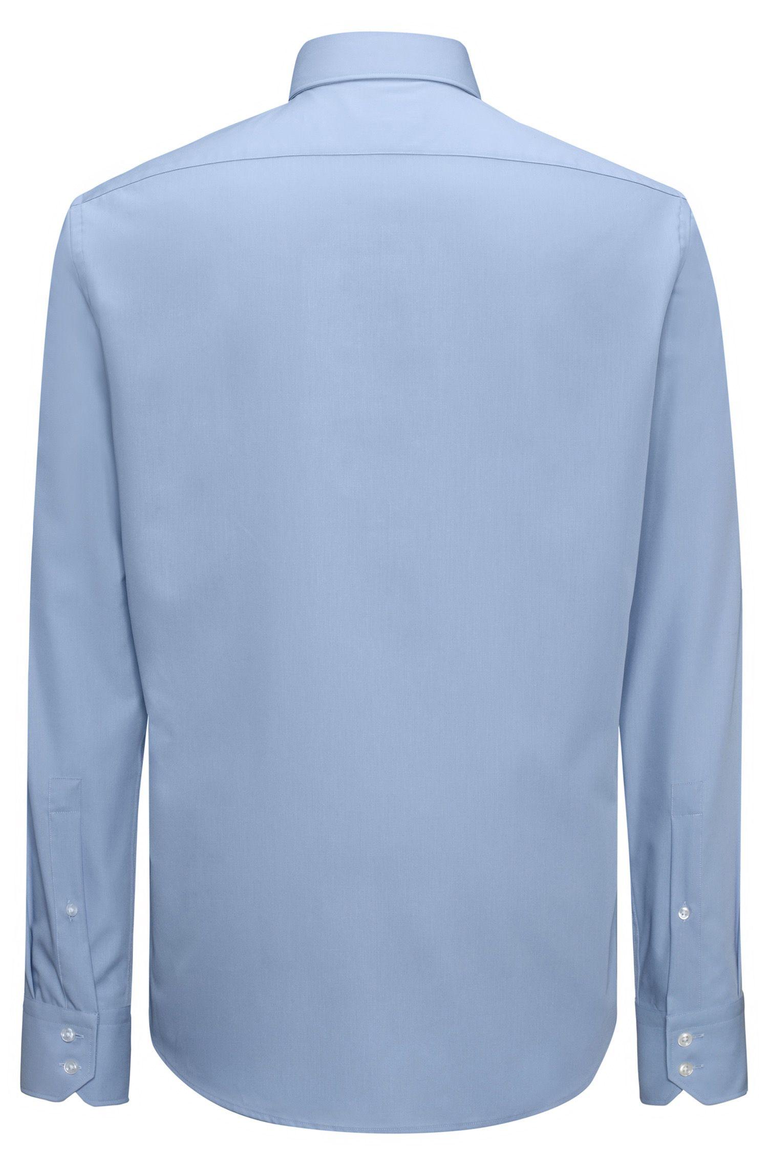 Bügelleichtes Regular-Fit Hemd aus Baumwolle mit Cutaway-Kragen
