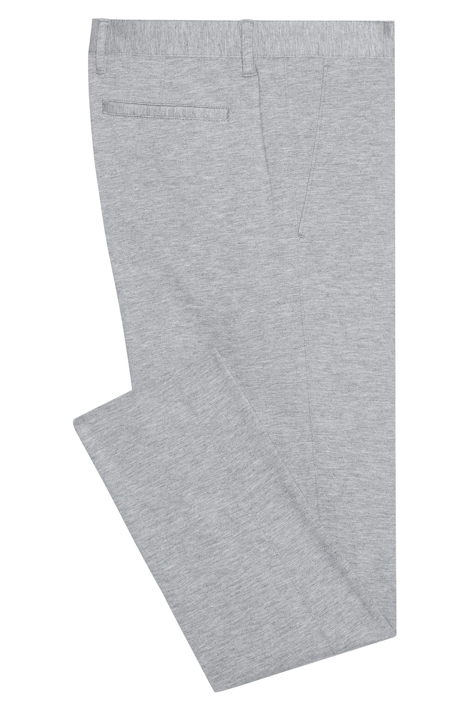 Chinos jaspeados en punto elástico con pierna de estilo pitillo