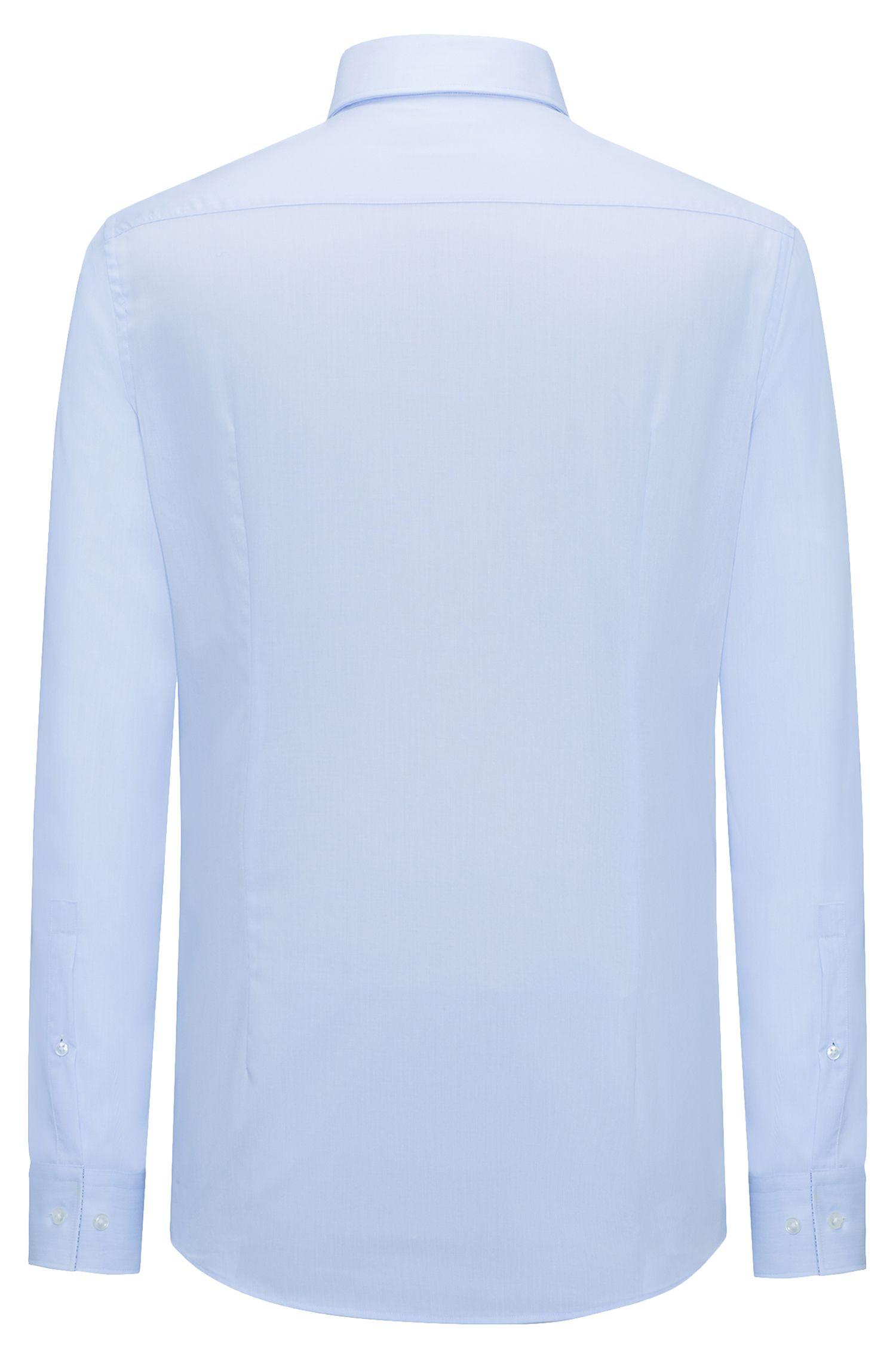 Chemise Slim Fit en popeline de coton facile à repasser, à rayures milleraies