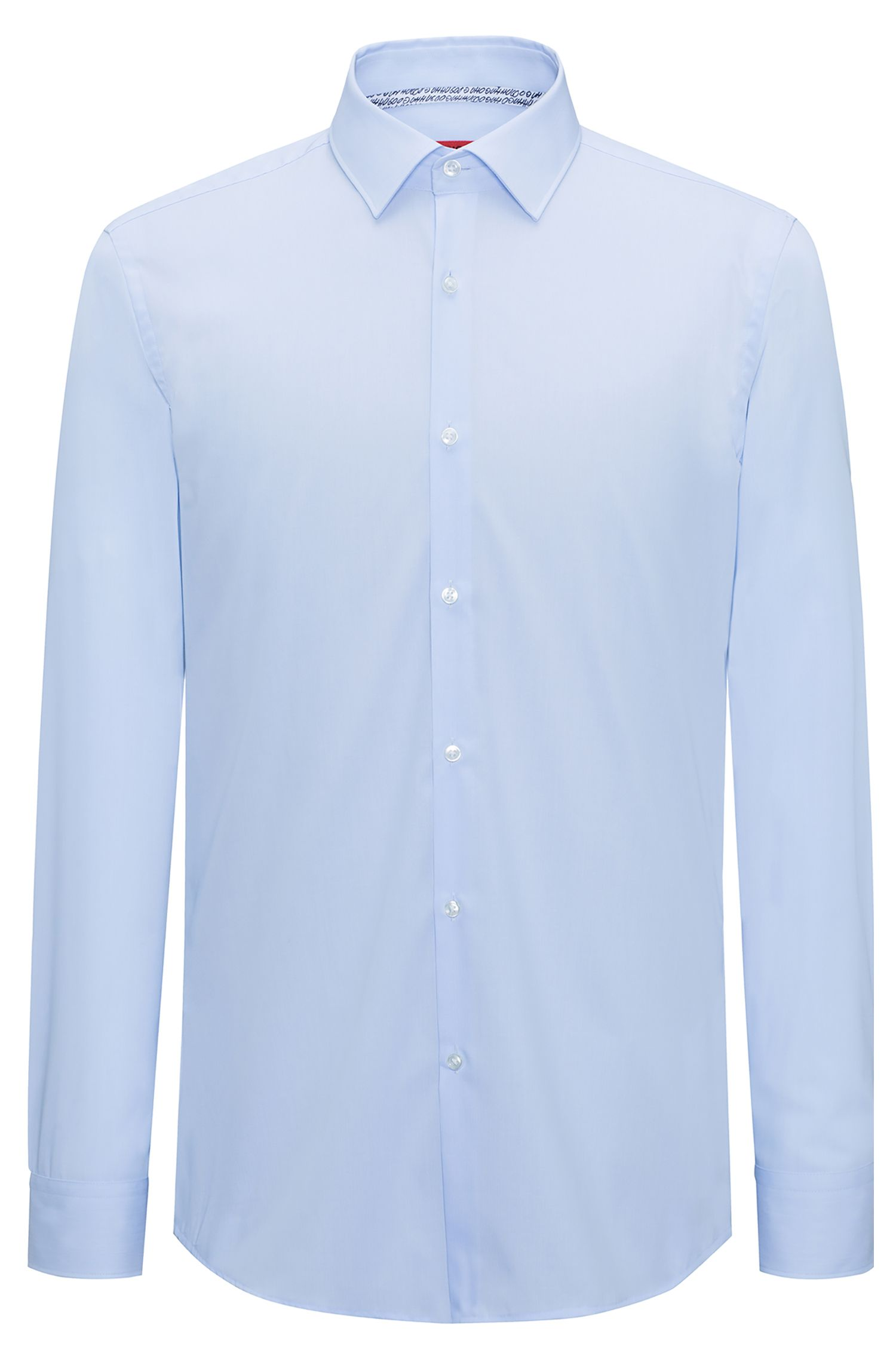 Slim-fit hairline-striped shirt in easy-iron cotton poplin