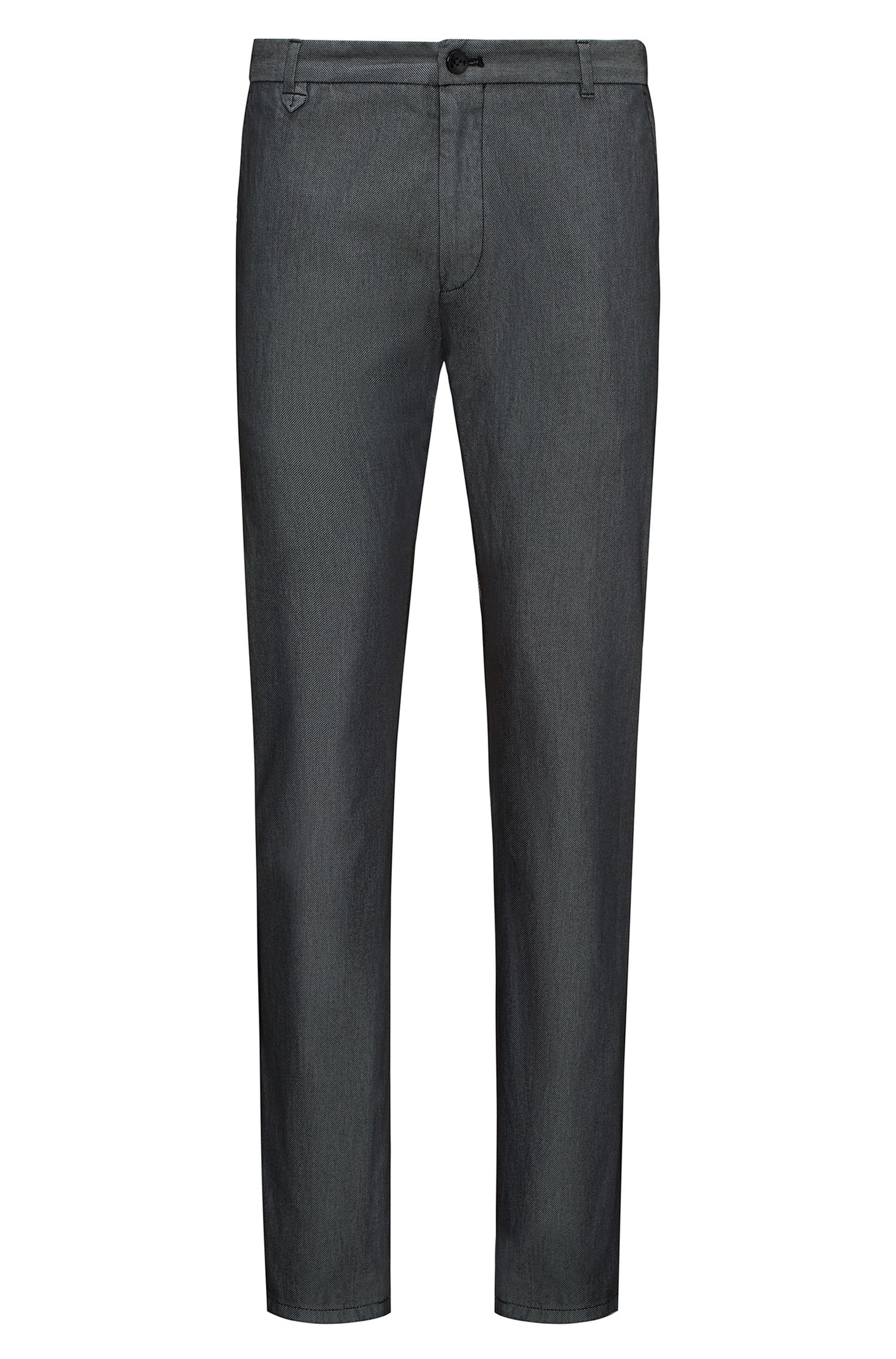 Extra slim-fit broek in tweekleurige stretchgabardine