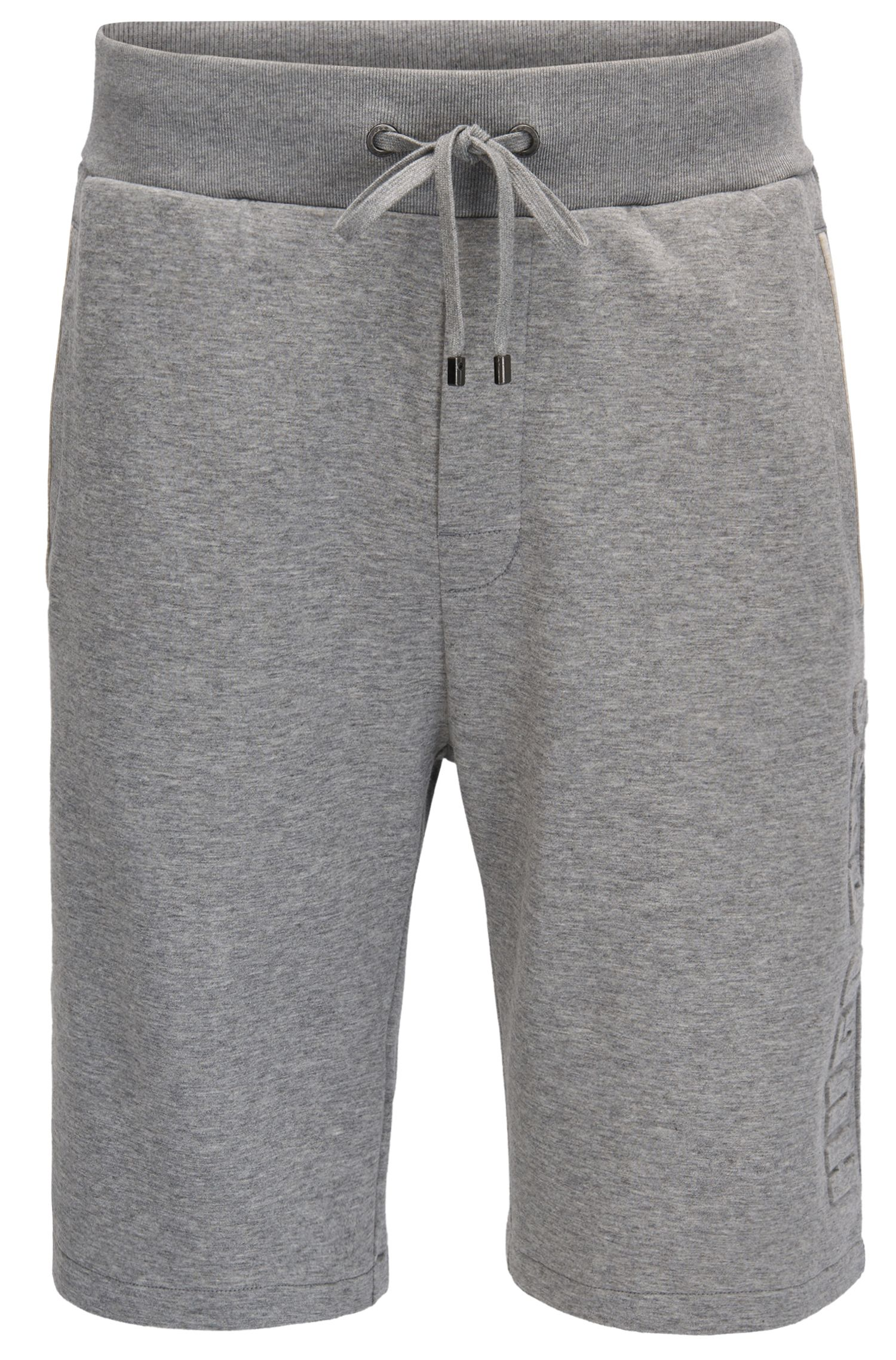 Loungewear shorts in a double-face cotton blend