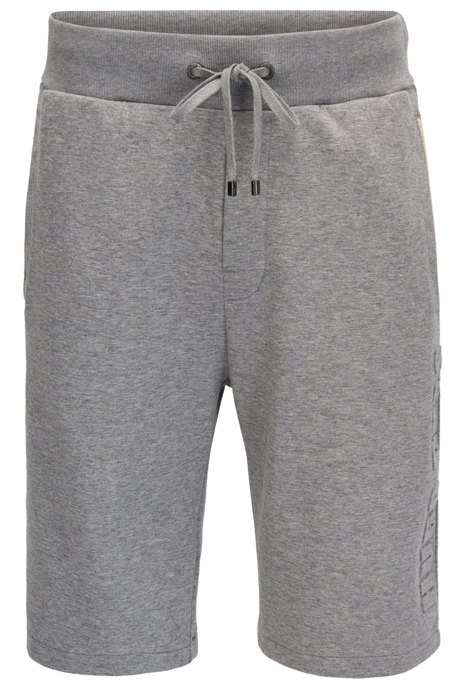 Loungewear-Shorts aus zweiseitigem Baumwoll-Mix