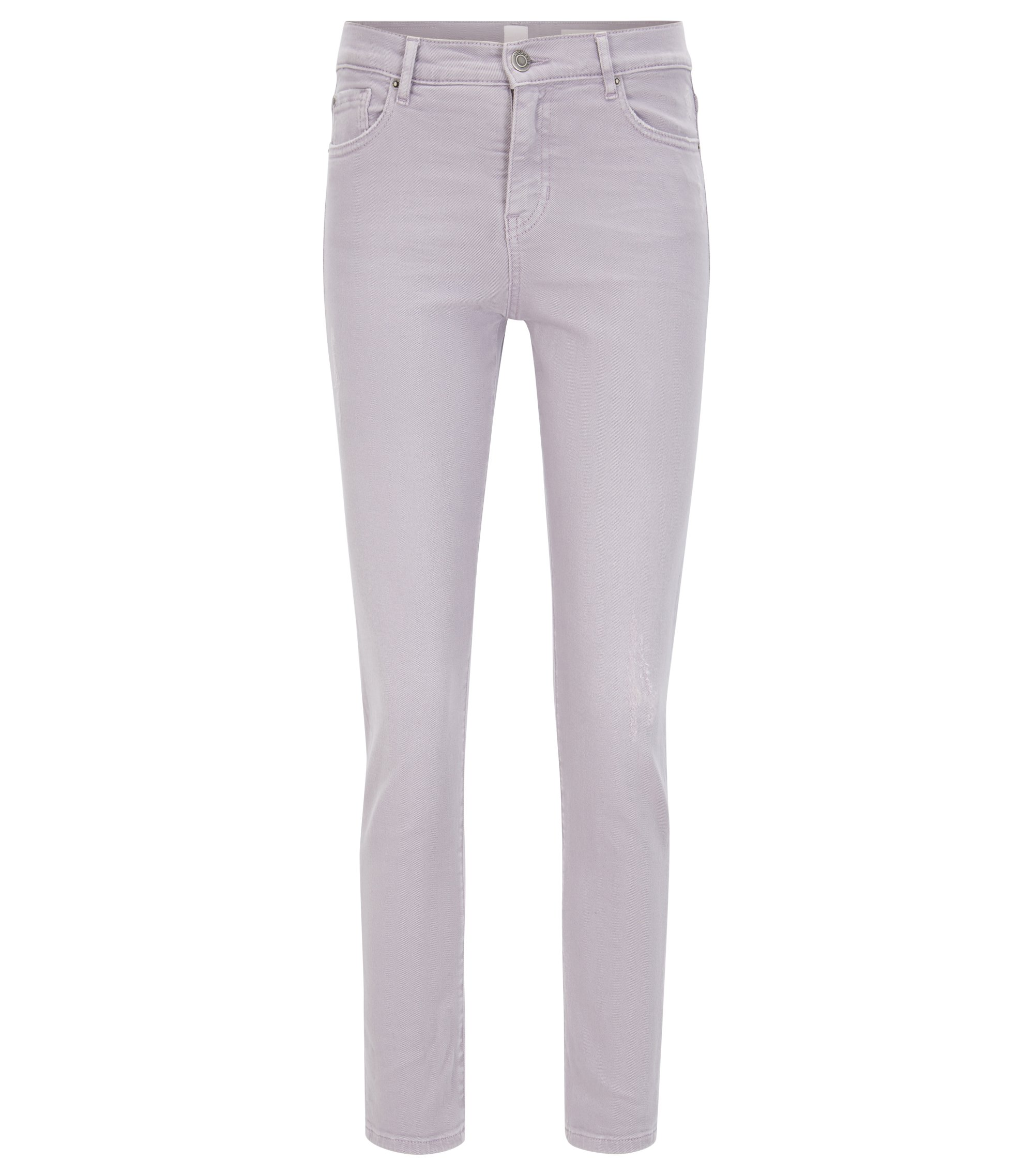 Jeans Slim Fit en denim stretch tissé, Lilas