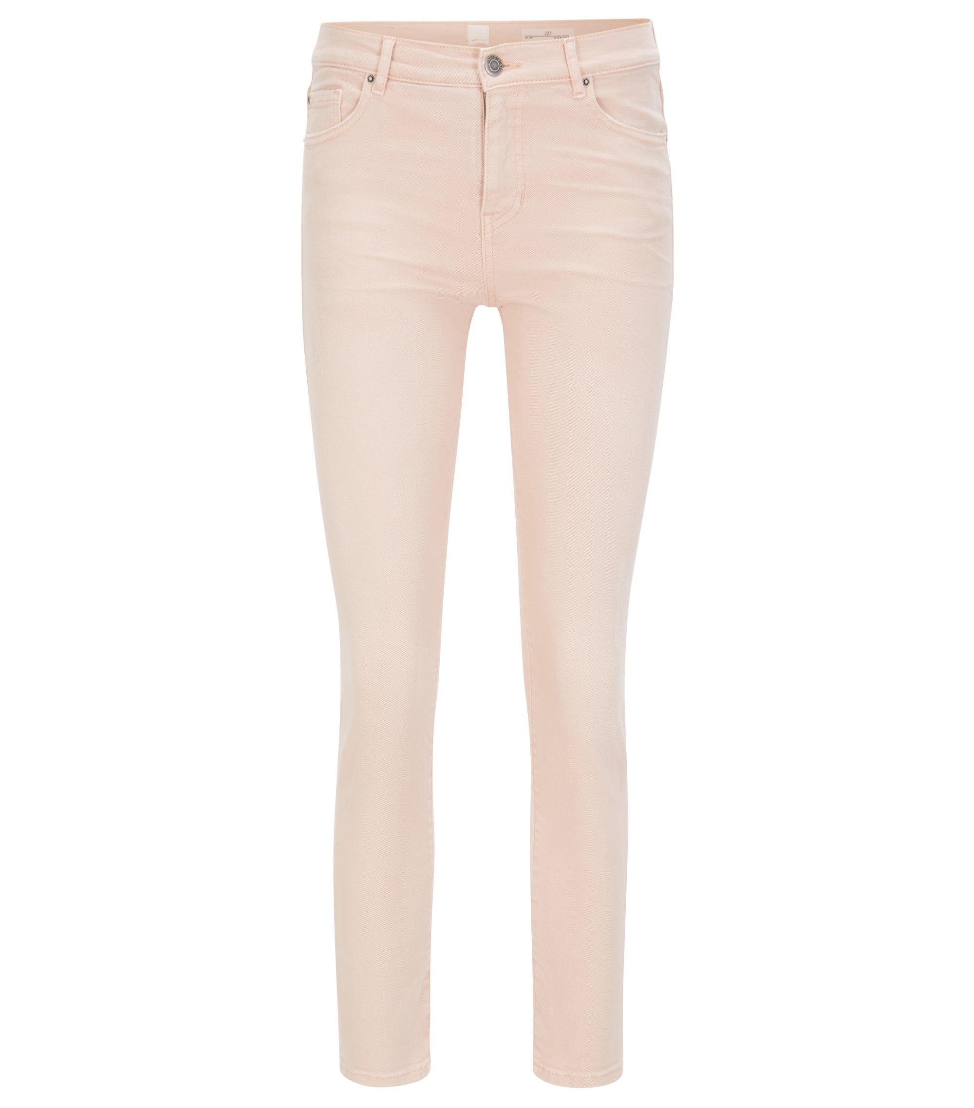 Jeans Slim Fit en denim stretch tissé, Rose clair