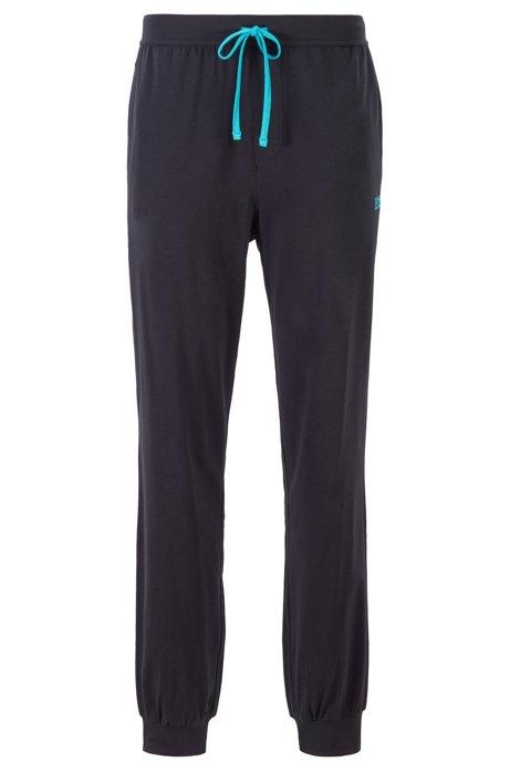 Pantalon d'intérieur resserré au bas des jambes, en coton stretch, Noir