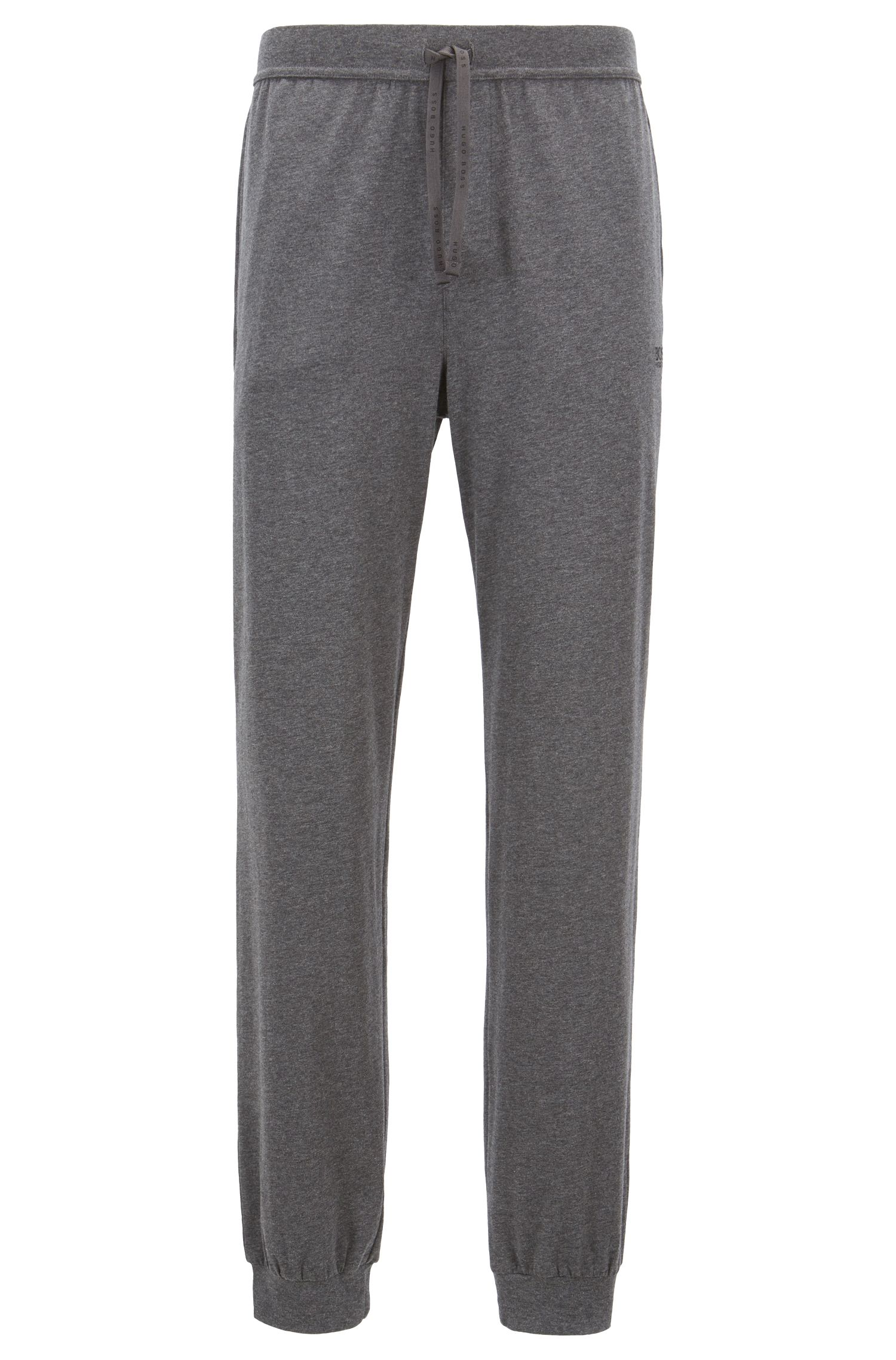 Cuffed loungewear trousers in stretch cotton