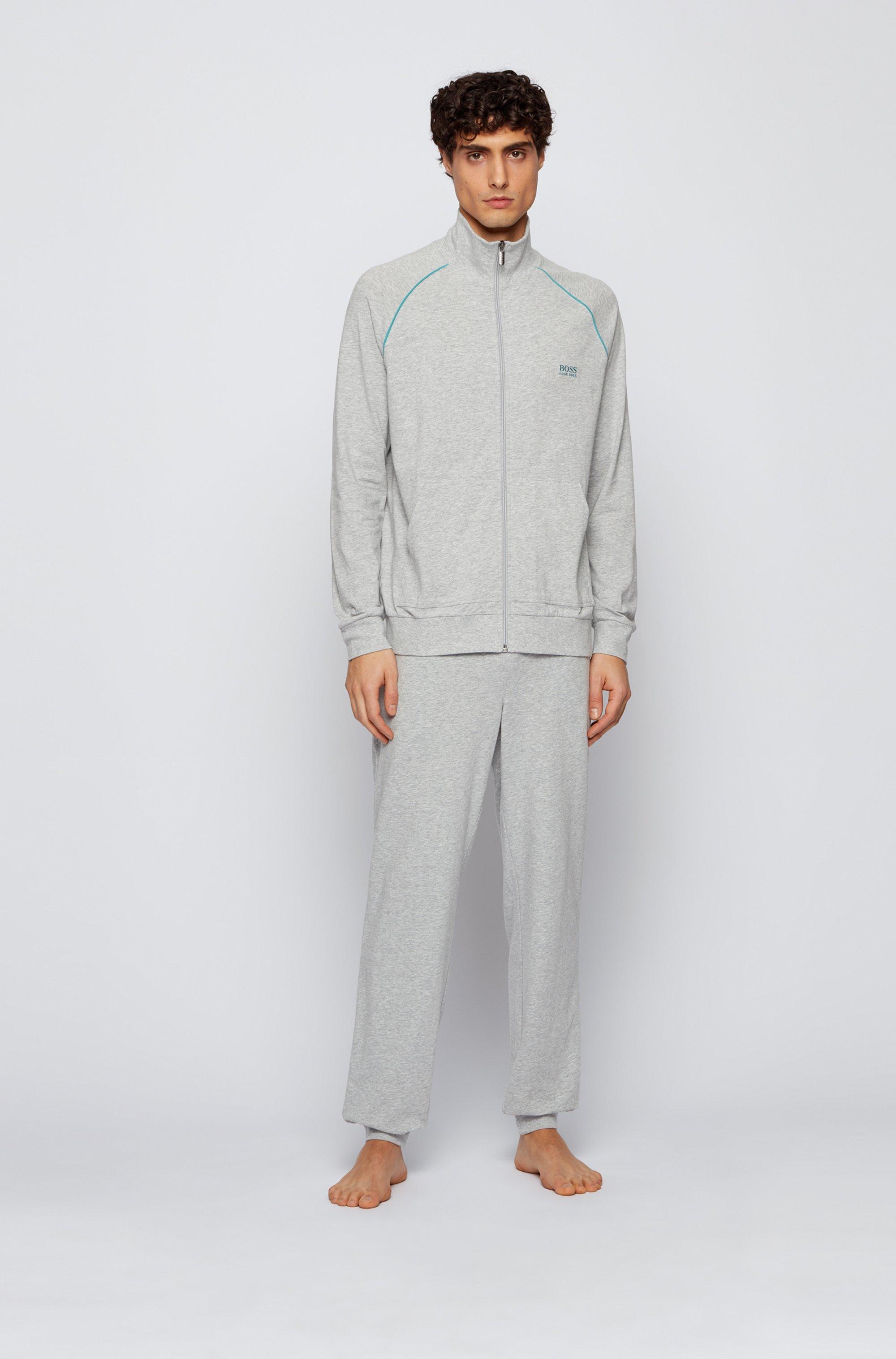 Cuffed loungewear trousers in stretch cotton