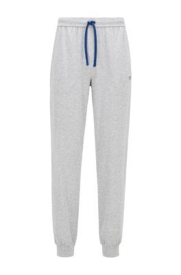 Pantalon d'intérieur resserré au bas des jambes, en coton stretch, Gris chiné