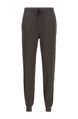 Cuffed loungewear trousers in stretch cotton, Light Green