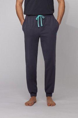 Pantalon d'intérieur resserré au bas des jambes, en coton stretch, bleu clair