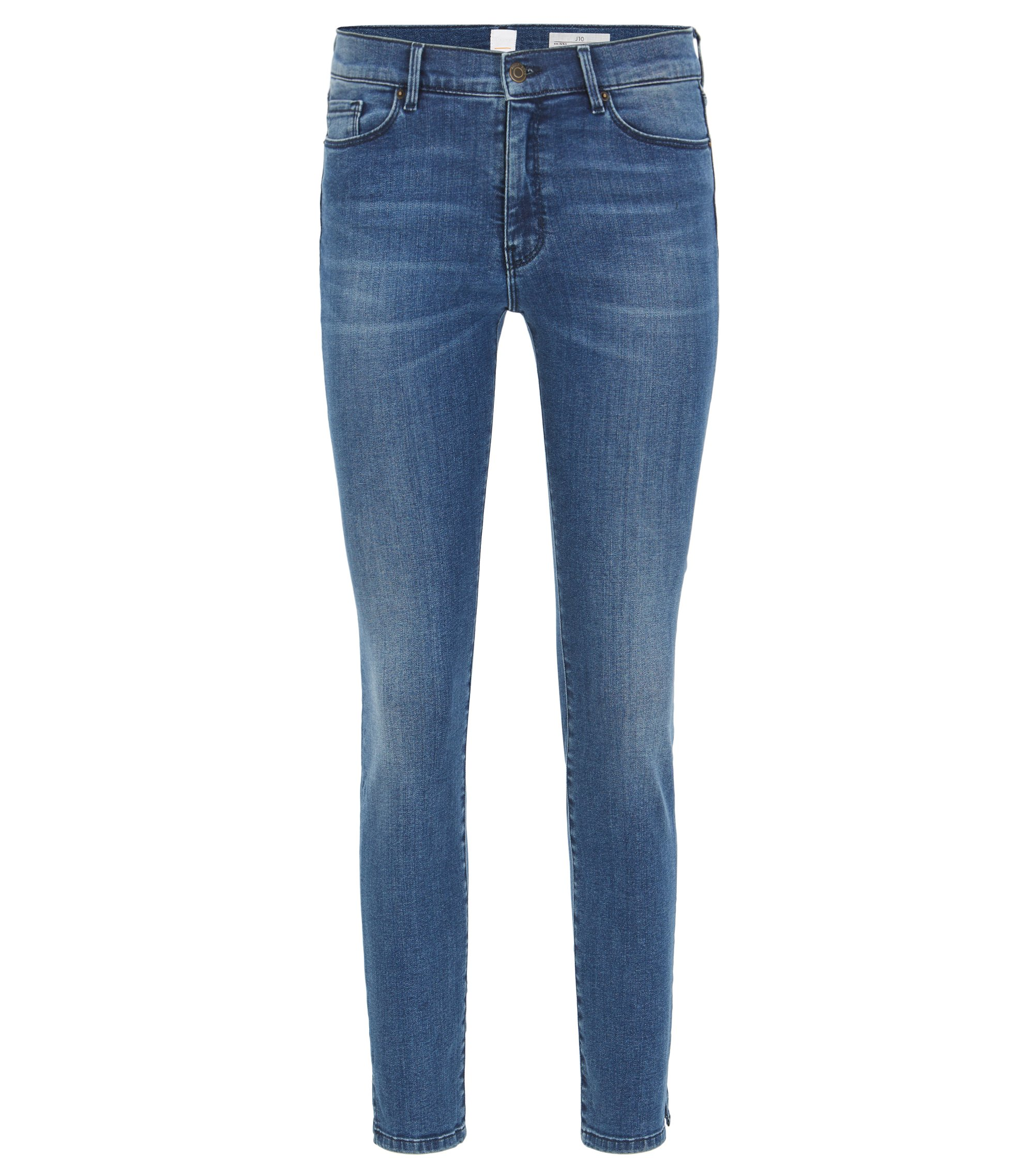 Skinny-fit jeans in red-cast denim, Dark Blue