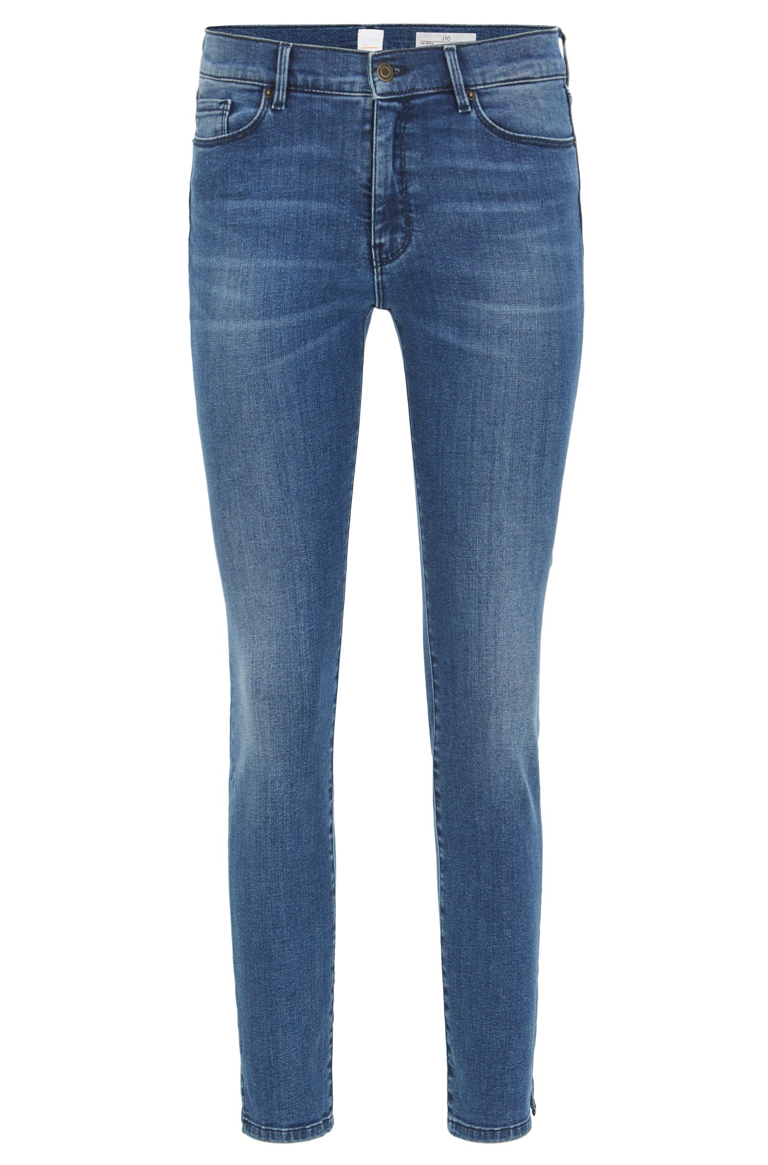 Jeans skinny fit in denim tendente al rosso