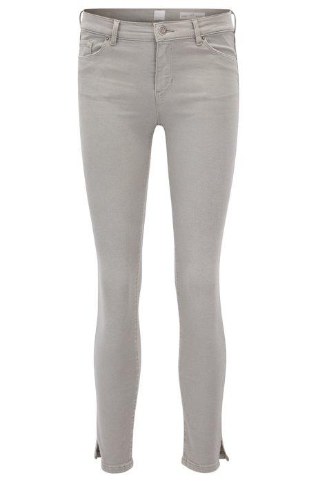Skinny-fit cropped jeans in stretch denim BOSS 9jo1XVk