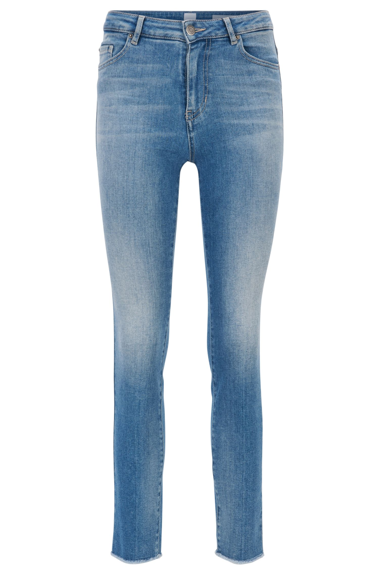 Skinny-fit cropped jeans in Italian stretch denim