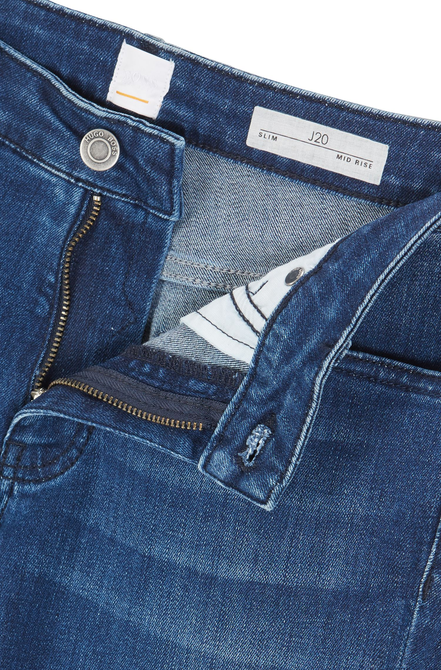 Jean Slim Fit en denim stretch confortable bleu moyen