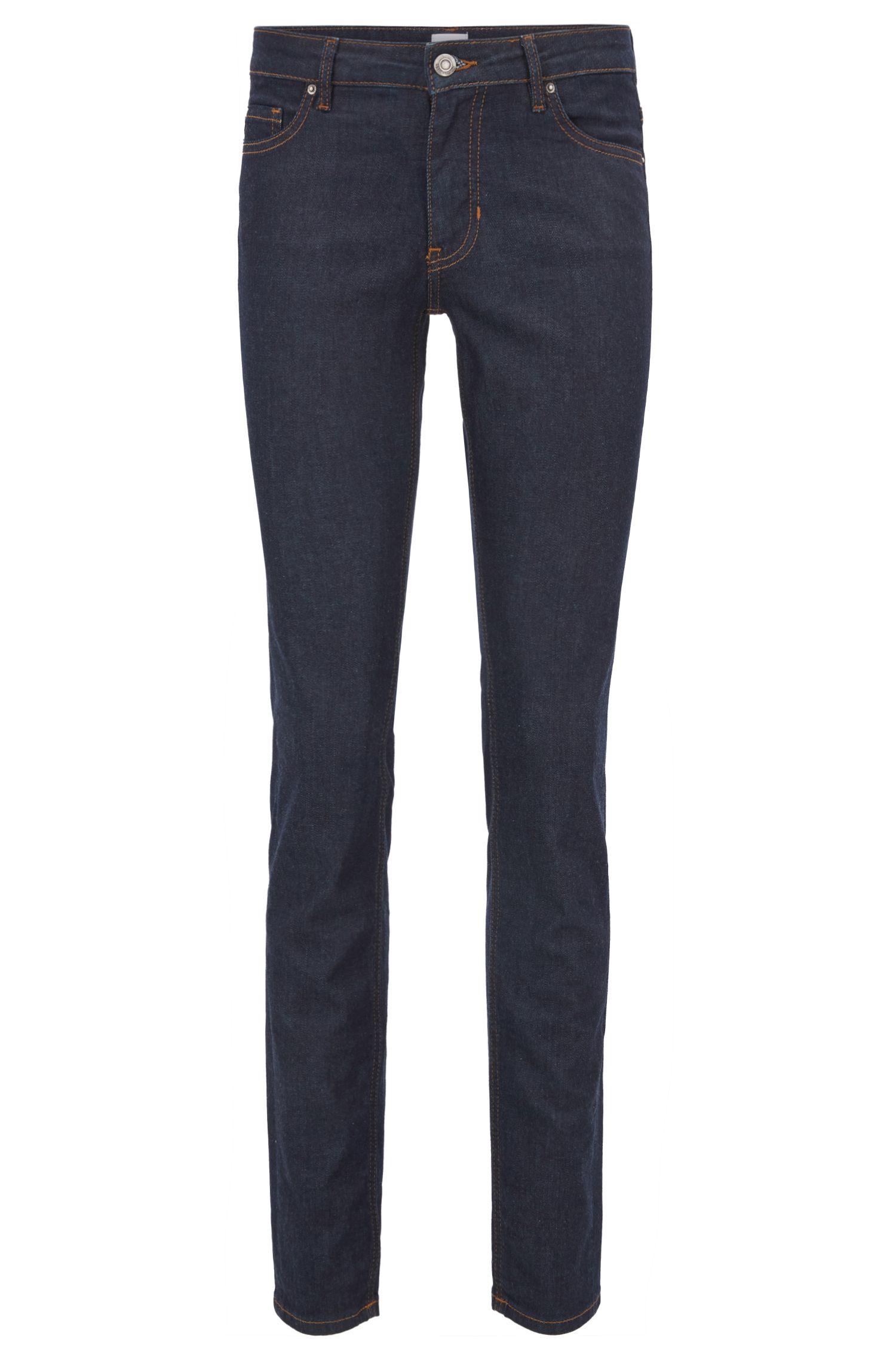 Slim-fit jeans van diepblauw stretchdenim