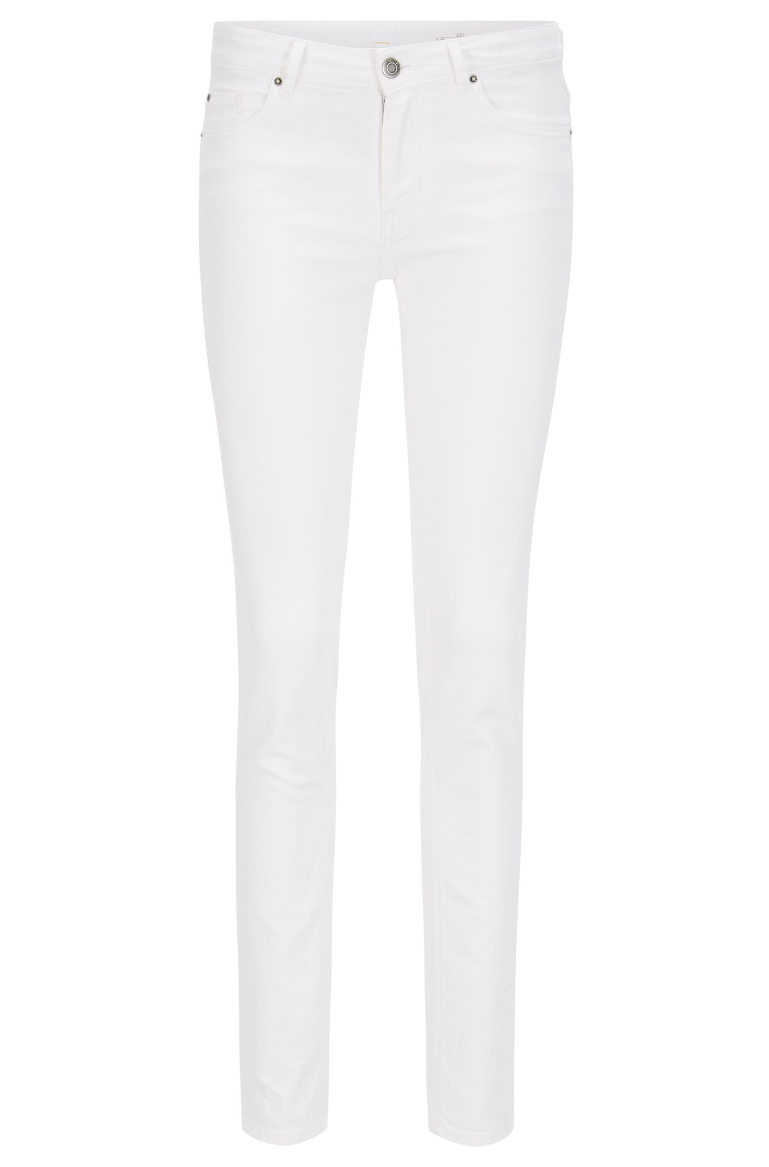 Witte slim-fit jeans van comfortabel stretchdenim