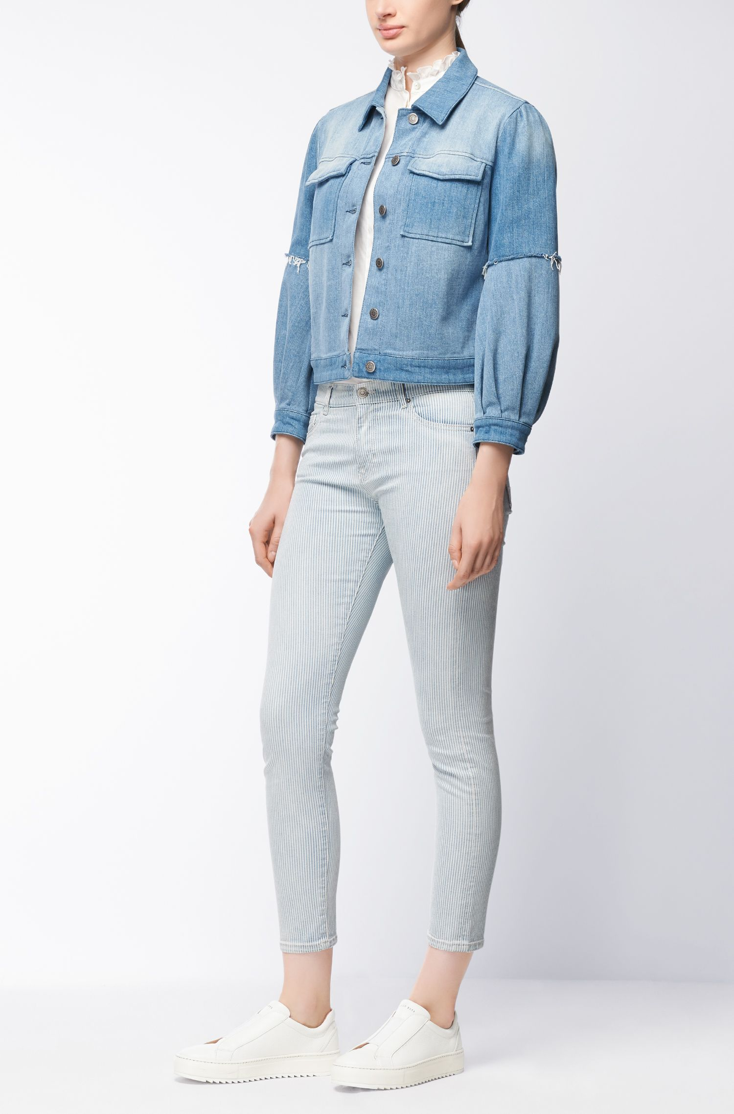 Kortere slim-fit jeans van comfortabel stretchdenim