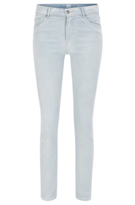 Relaxed-fit cropped jeans in comfort-stretch denim BOSS P1dYjQU