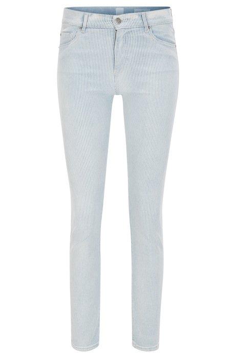Slim-fit cropped jeans in stretch denim BOSS rfzeFymwlY