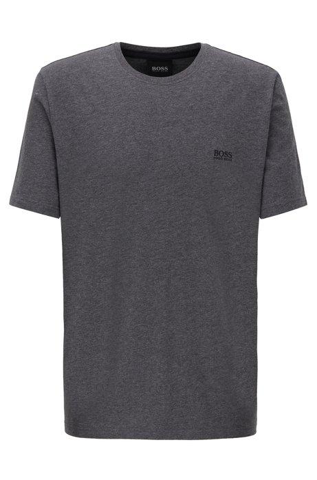 Loungewear T-shirt in stretch cotton, Dark Grey