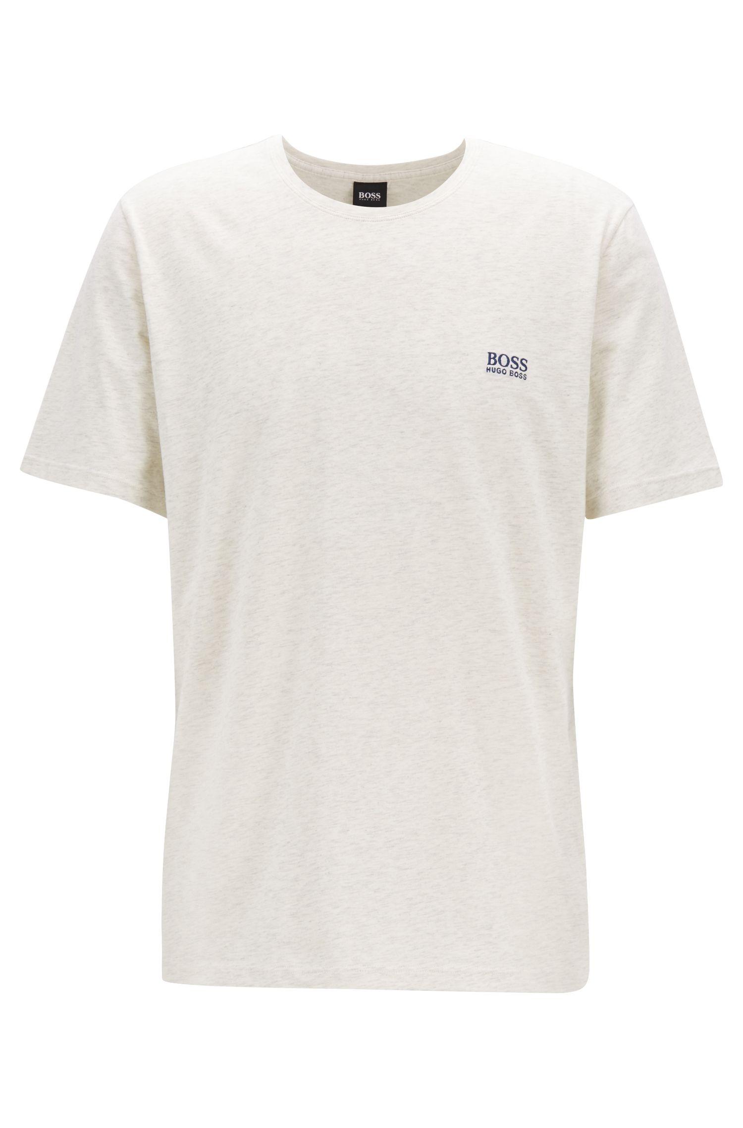 Loungewear T-shirt in stretch cotton, Grey