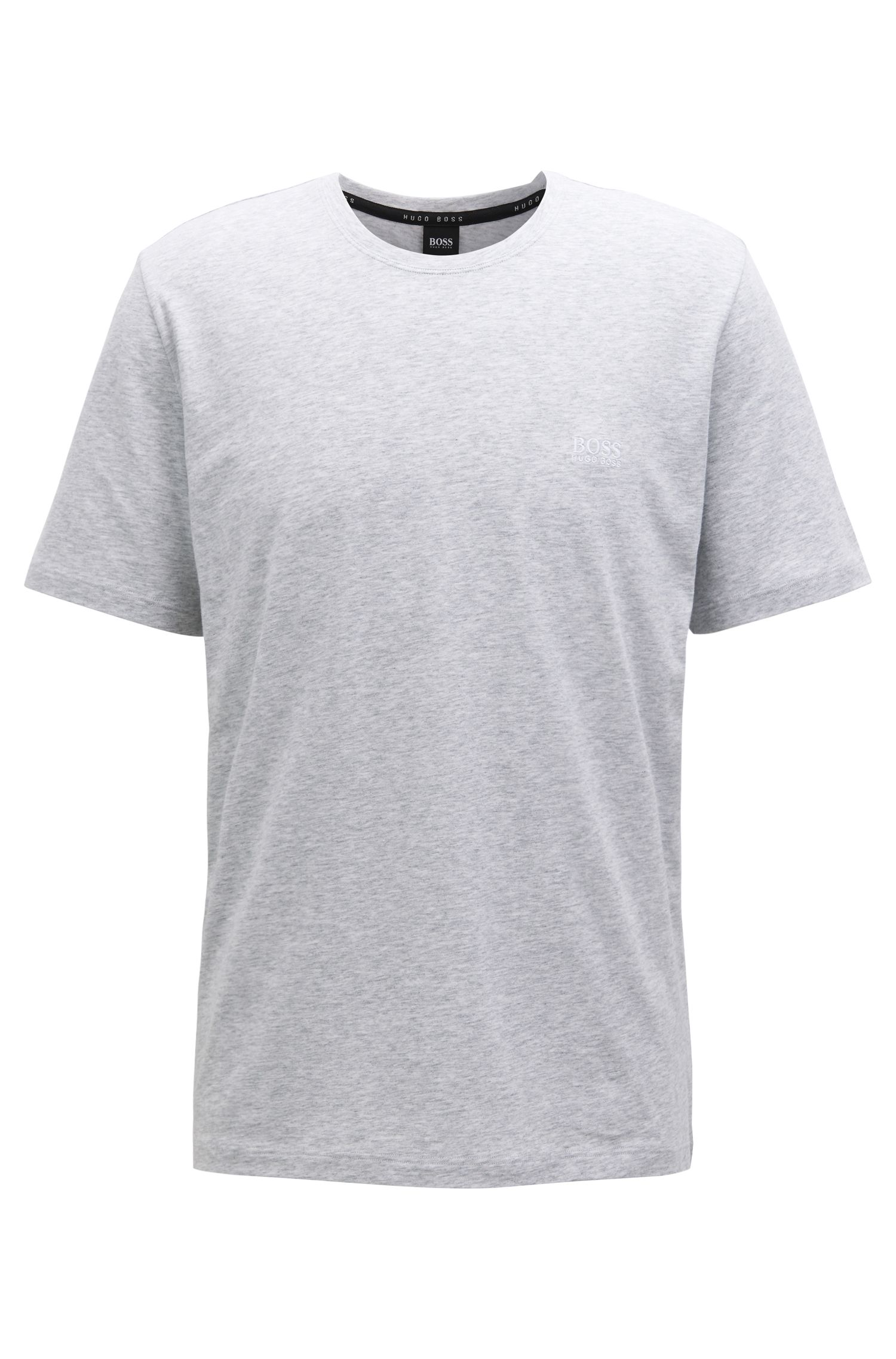 Loungewear T-shirt in stretch cotton, Grey