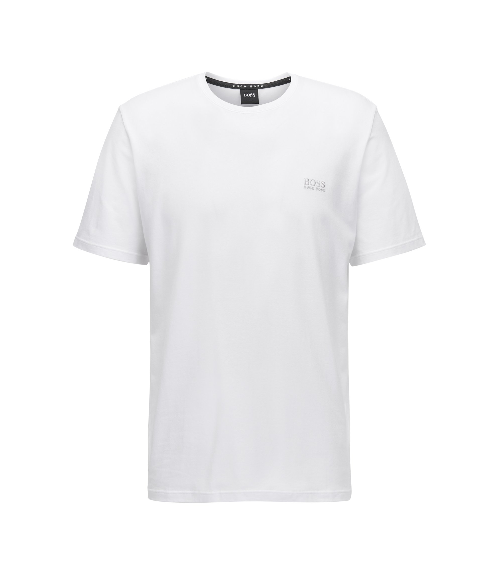 Loungewear T-shirt in stretch cotton, White