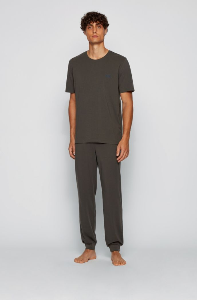 Loungewear T-shirt in stretch cotton
