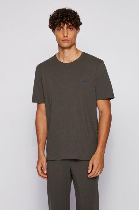 Loungewear T-shirt in stretch cotton, Light Green