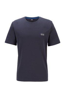 ストレッチコットン素材を使ったラウンジウエアのTシャツ, ダークブルー