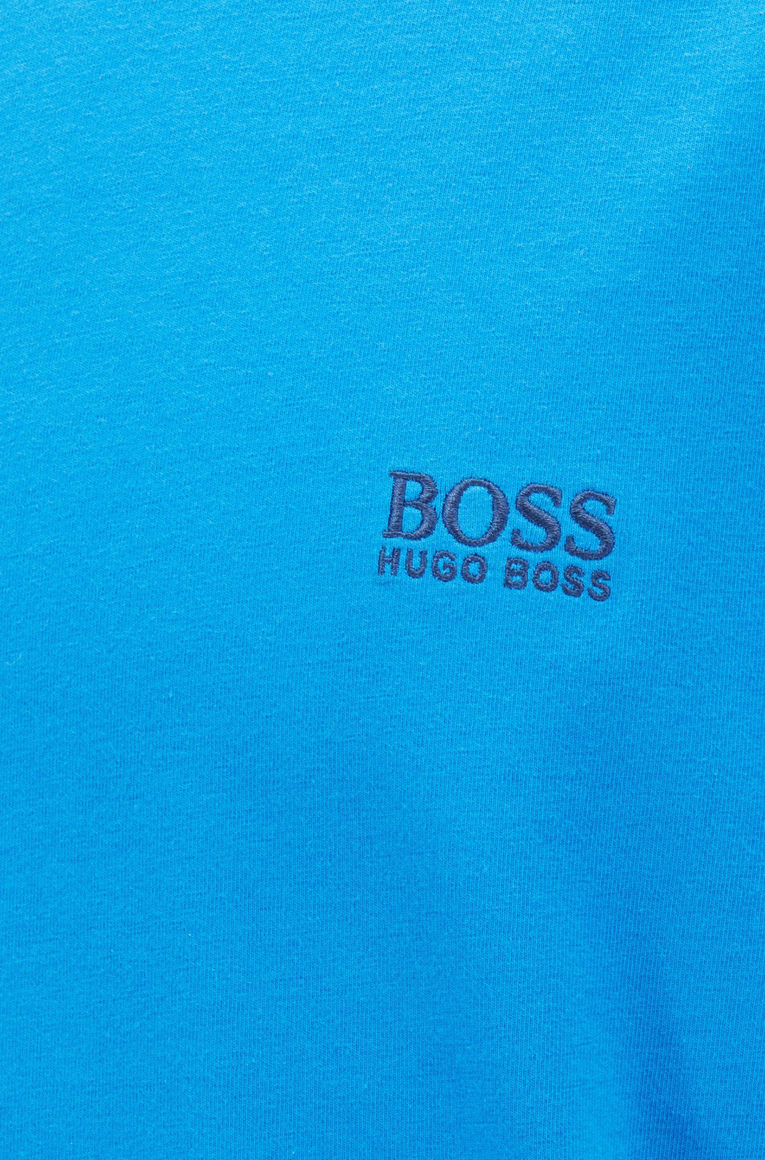 Loungewear-T-Shirt aus Stretch-Baumwolle, Blau