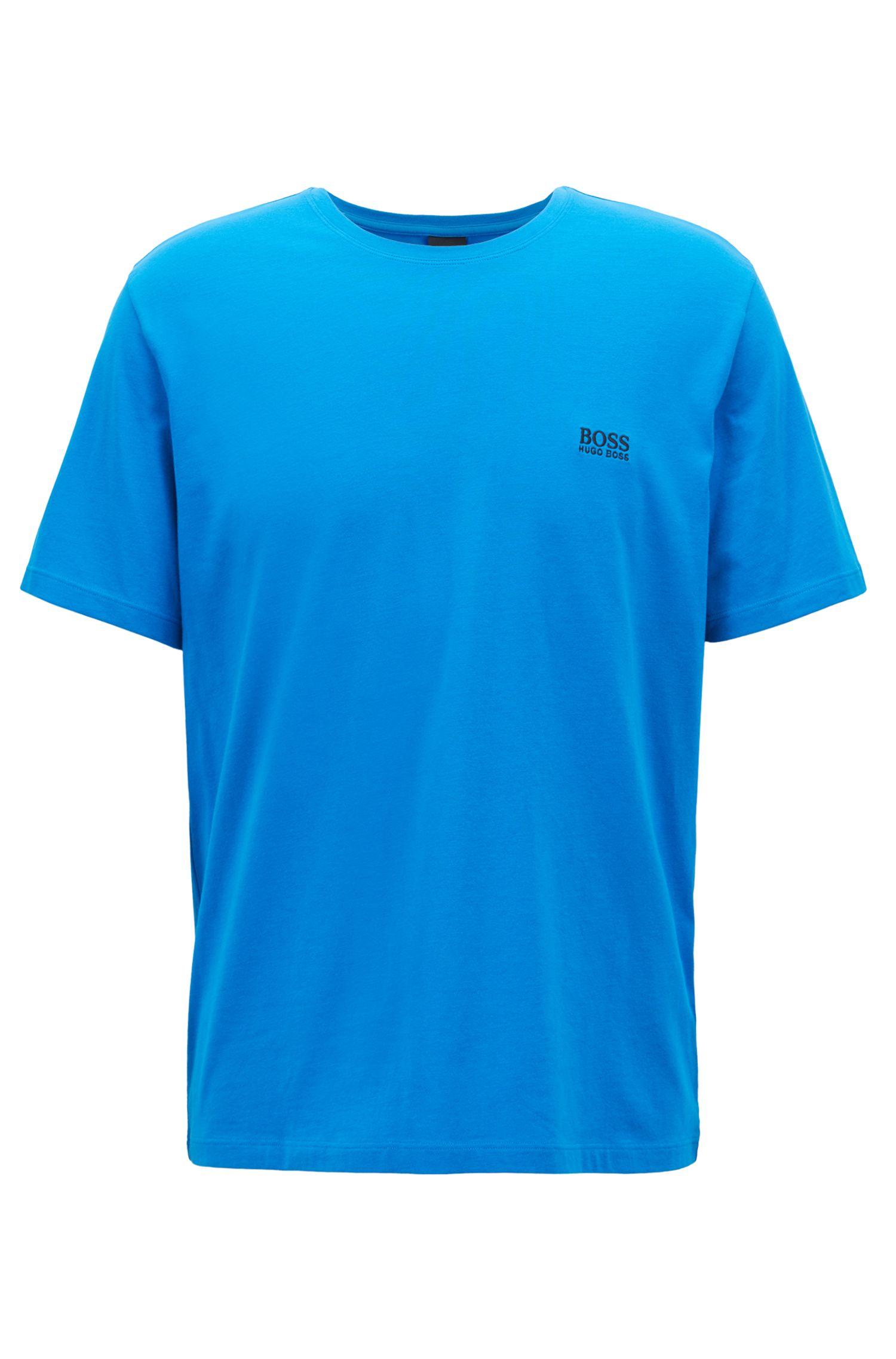 Lounge-T-shirt van stretchkatoen, Blauw
