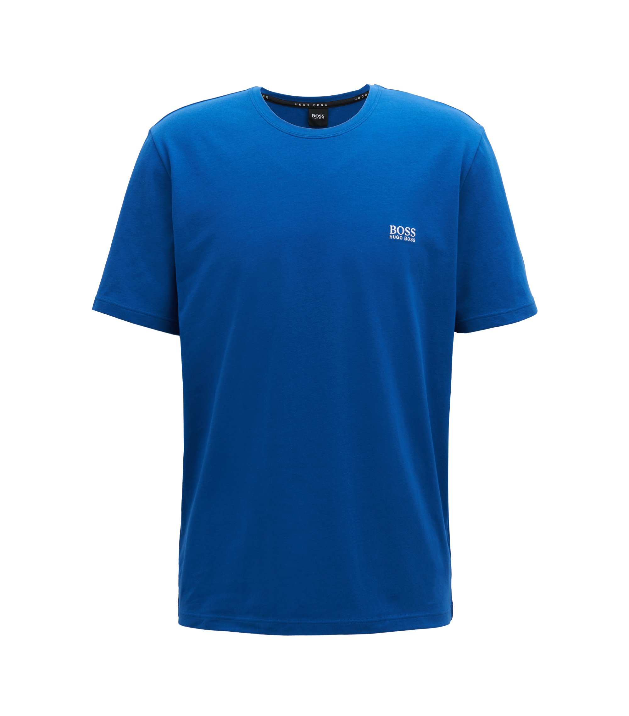 Loungewear T-shirt in stretch cotton, Blue