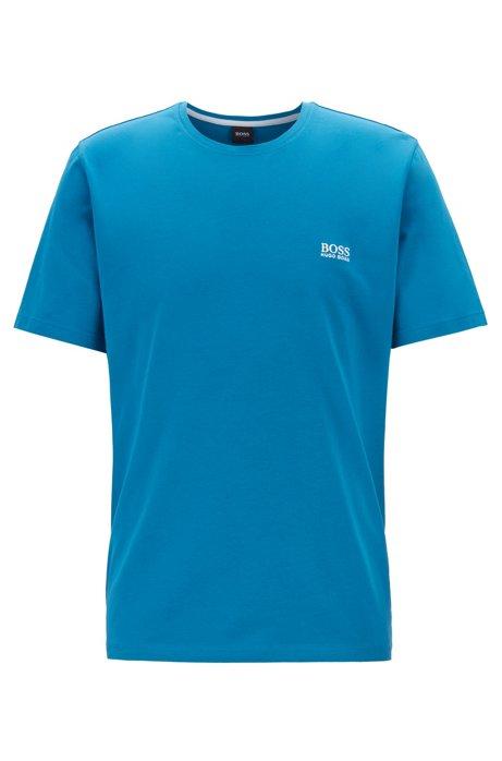 Loungewear-T-Shirt aus Stretch-Baumwolle, Türkis
