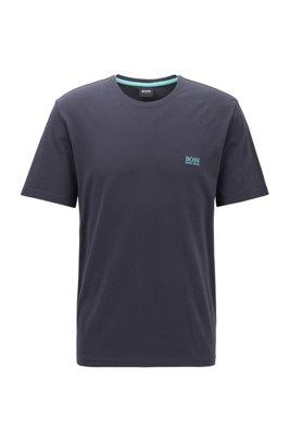 T-shirt d'intérieur en coton stretch, bleu clair