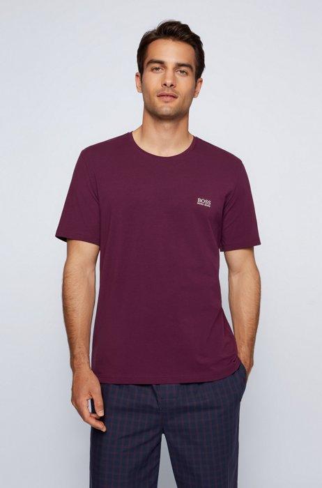 Loungewear-T-Shirt aus Stretch-Baumwolle, Dunkel Lila