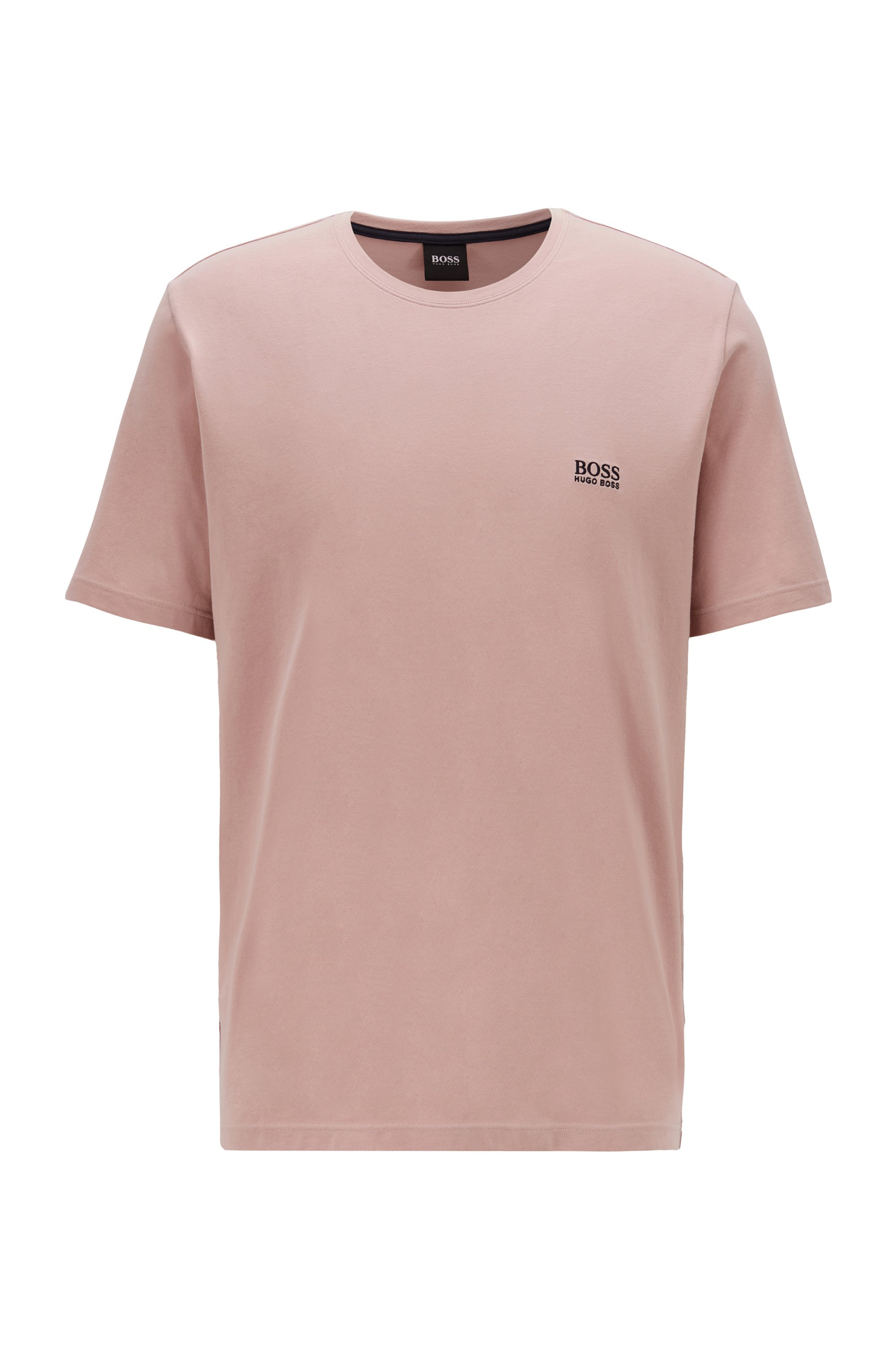Loungewear T-shirt in stretch cotton, light pink