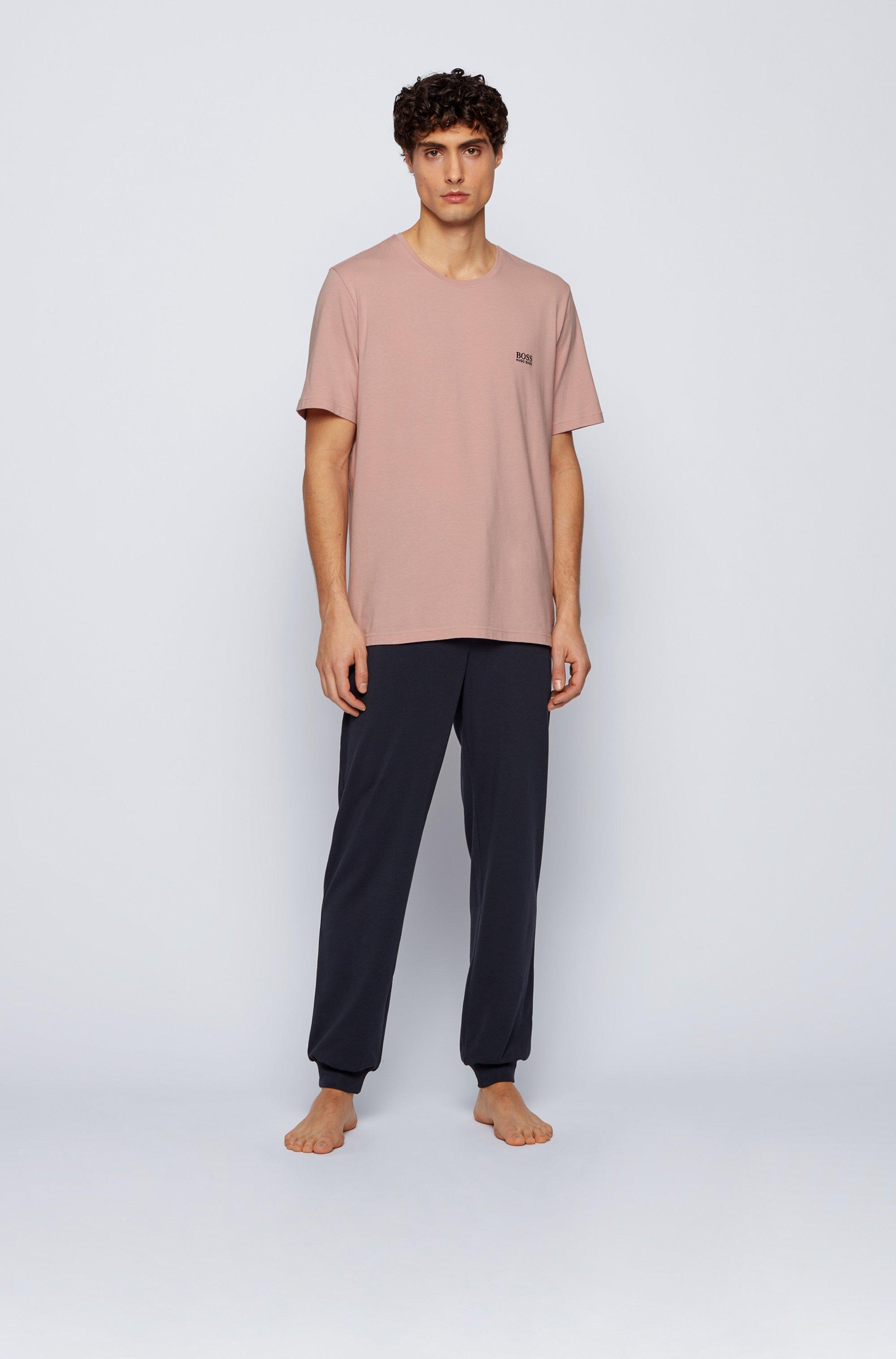 Loungewear-T-Shirt aus Stretch-Baumwolle