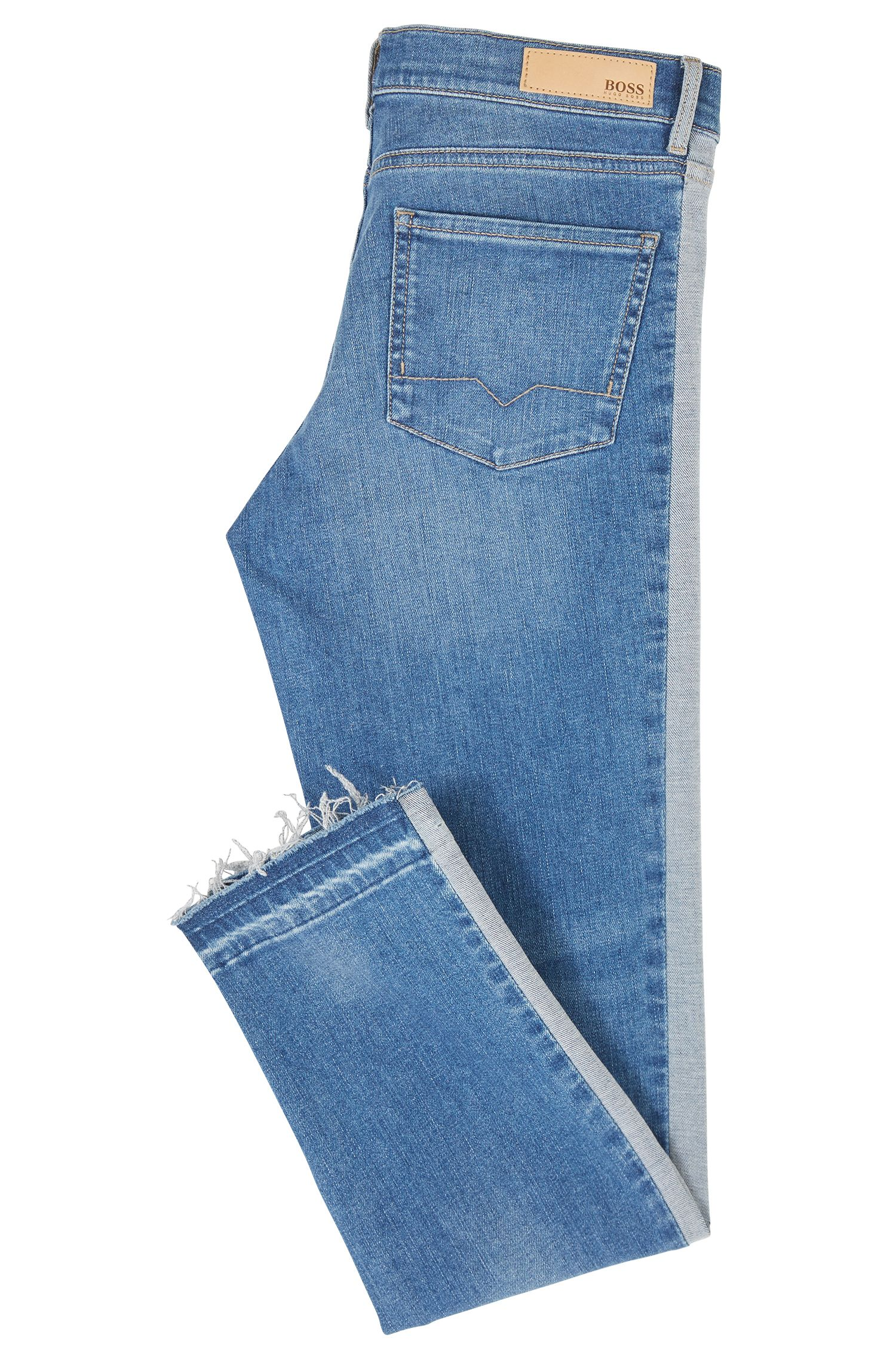 Slim-Fit Jeans aus Stretch-Denim mit verkürzter Beinlänge