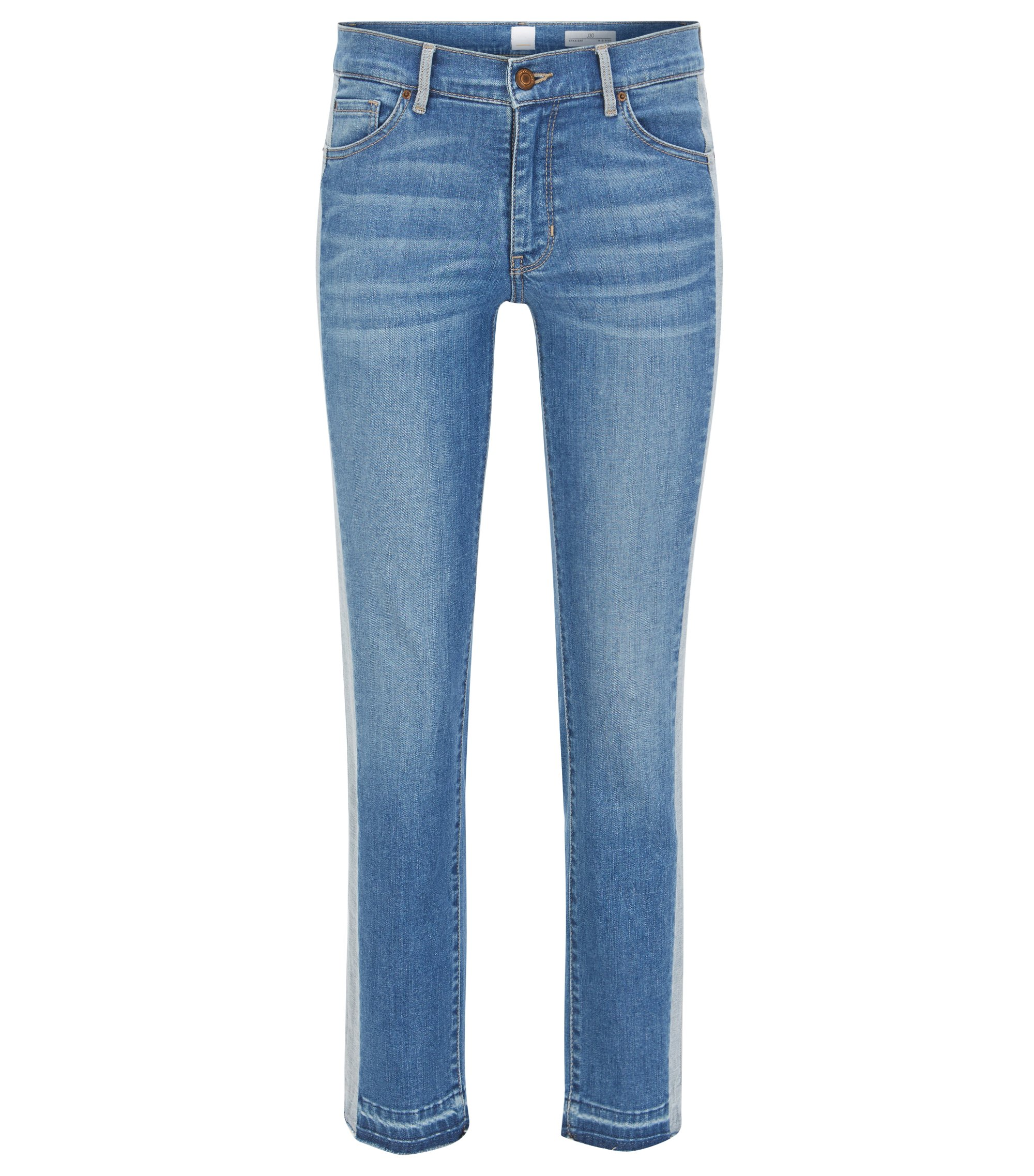 Slim-fit cropped jeans in stretch denim , Blue