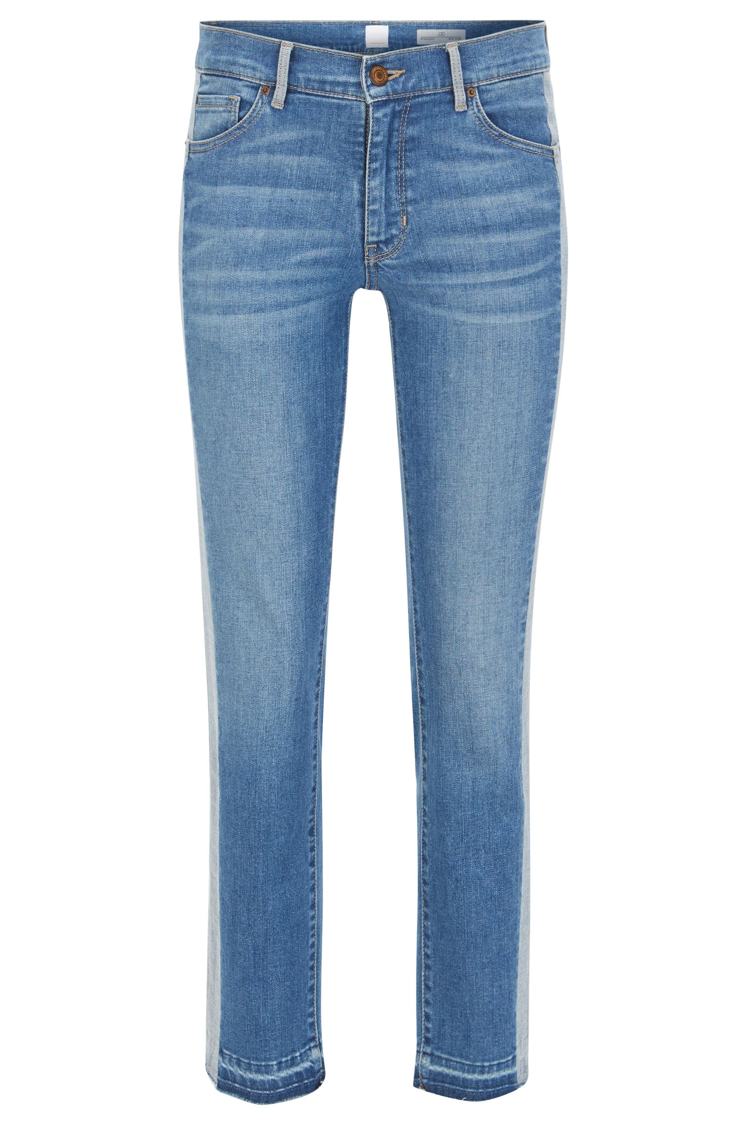 Kortere, slim-fit jeans van stretchdenim
