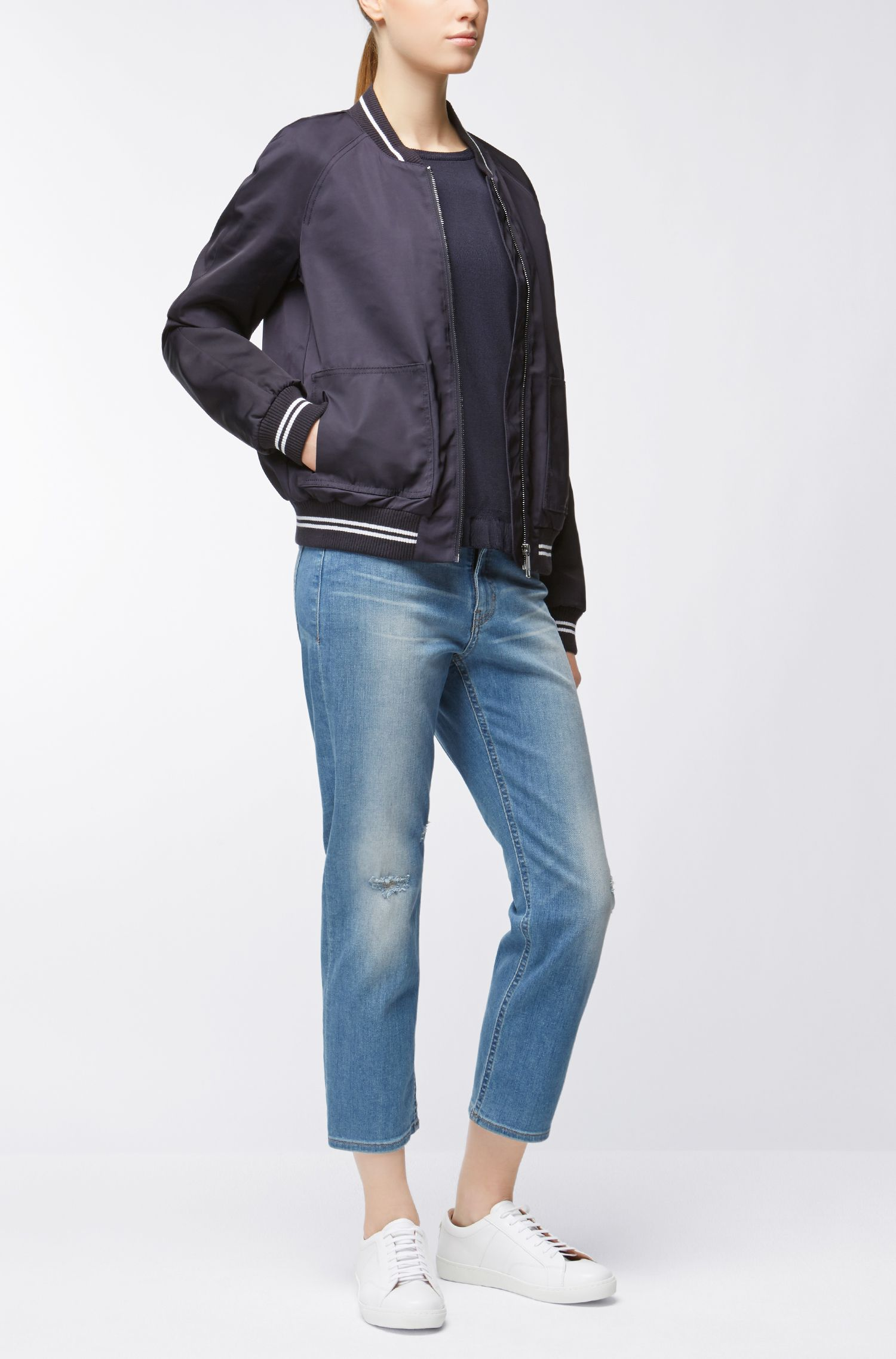 Relaxed-Fit Jeans aus komfortablem Stretch-Denim in Cropped-Länge