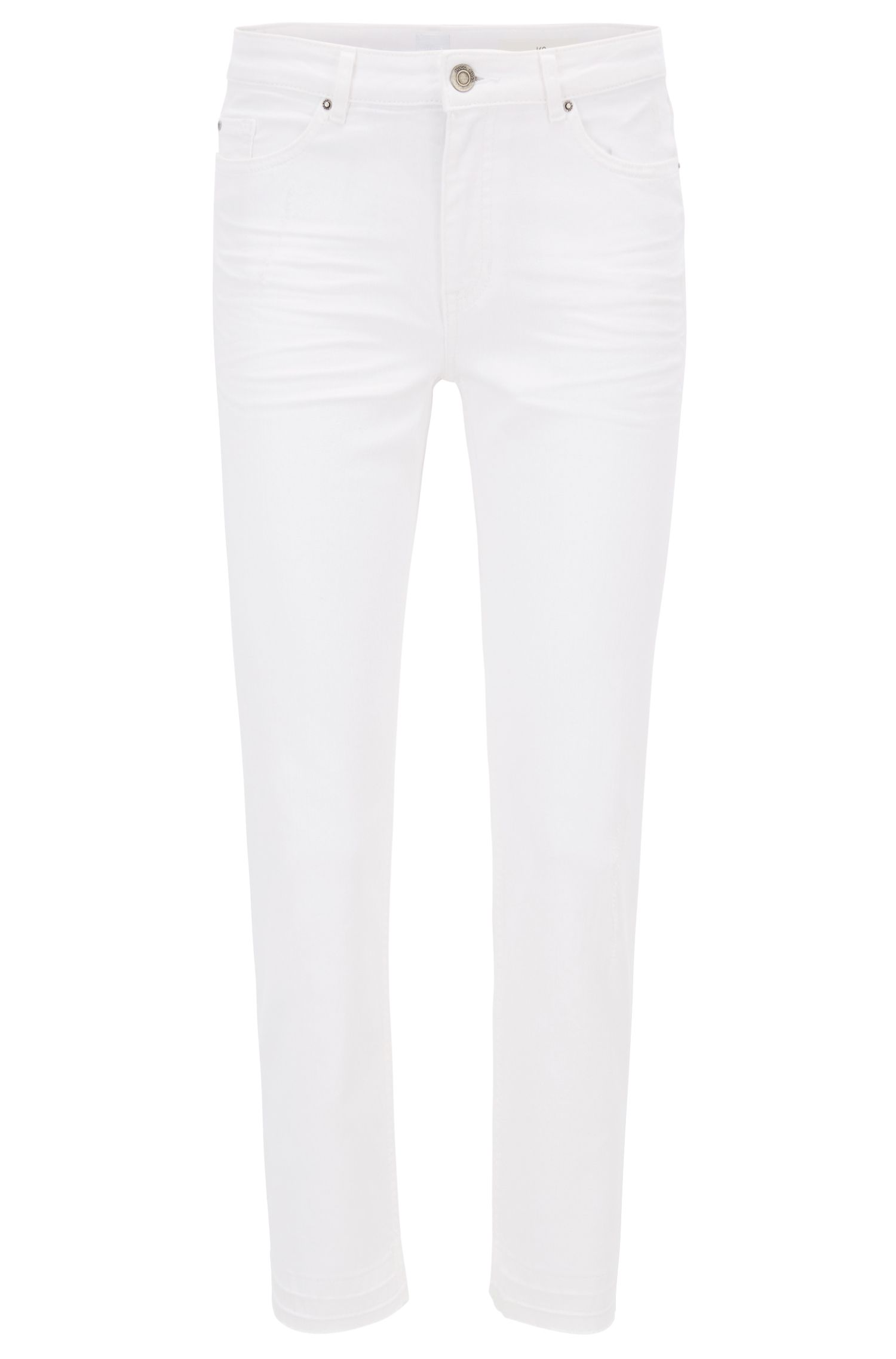Relaxed-fit cropped jeans in comfort-stretch denim