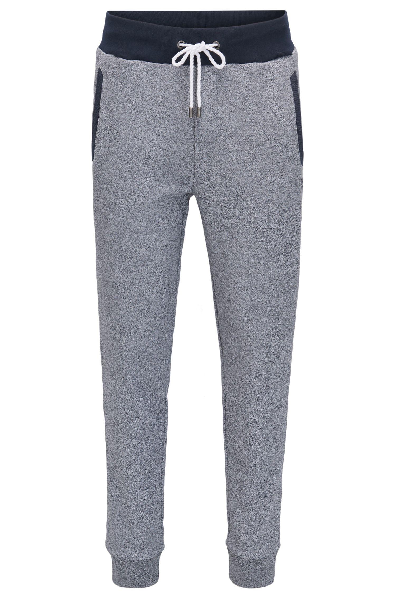 Pantalon d'intérieur en tissu éponge chiné resserré au bas des jambes